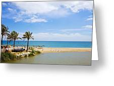 Beach And Sea On Costa Del Sol Greeting Card