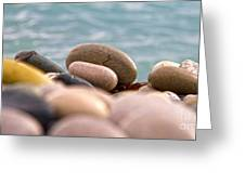 Beach And Stones Greeting Card by Stelios Kleanthous