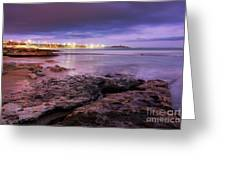 Beach At Dusk Greeting Card by Carlos Caetano