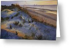 Beach At Dusk Greeting Card