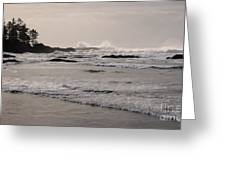 Beach At Tofino  Greeting Card