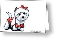 Beach Babe Westie Greeting Card