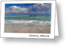 Beach Background Greeting Card