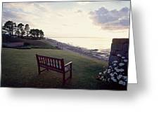 Beach Bench Greeting Card