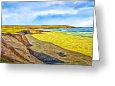 Beach Cliffs South Of San Onofre Greeting Card