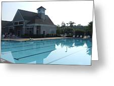 Beach Club And Pool At Tega Cay Greeting Card