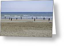 Beach Cricket - Bridlington Greeting Card