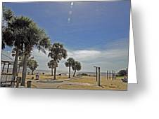 Beach Day After Issac  Greeting Card