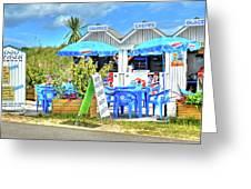 Beach Food Shack France Greeting Card
