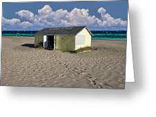 Beach House Along The Shore Greeting Card