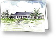 The Little House On East Beach Greeting Card
