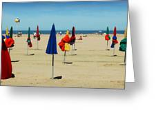 Beach In Deauville Greeting Card