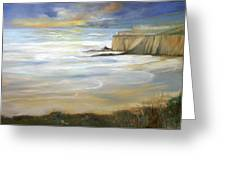 Beach On Highway One Greeting Card by Max Mckenzie