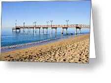 Beach Pier In Marbella Greeting Card
