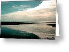 Beach Reflection Greeting Card