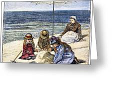 Beach Scene, 1879 Greeting Card