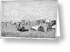 Beach Scene, 19th Century Greeting Card