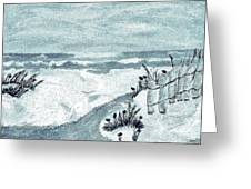 Beach Seashore Abstract Greeting Card by Marsha Heiken