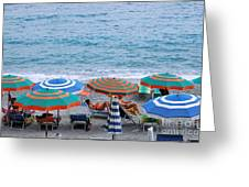 Beach Umbrellas 2 Greeting Card