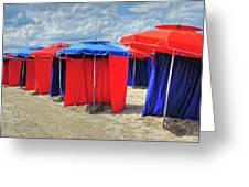 Beach Umbrellas Nice France Greeting Card