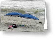 Beach Umbrells 40 Greeting Card