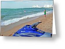 Beach Veiw Greeting Card