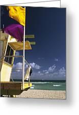 Beach Warning Flags Greeting Card