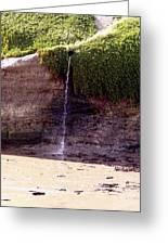 Beach Waterfall Greeting Card