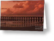 Beachcombing At Oceanside Pier Greeting Card