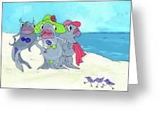 Beached Ladies Greeting Card