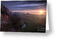 Beacon Hill Sunrise 6.0 Greeting Card