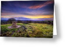 Beacon Hill Sunrise 8.0 Greeting Card