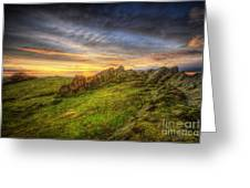 Beacon Hill Sunrise 9.0 Greeting Card