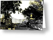 Beacon Rock Gate Newport Ri Greeting Card