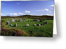 Beaghmore Stone Circles, Co. Tyrone Greeting Card by The Irish Image Collection