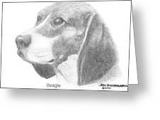 Beagle Greeting Card