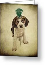 Beagle Puppy Flapper  Greeting Card