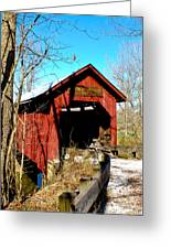 Bean Blossom Bridge Greeting Card by Beverly Cazzell
