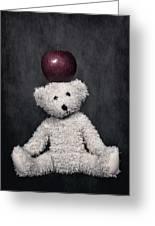 Bear And Apple Greeting Card