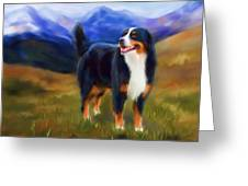 Bear - Bernese Mountain Dog Greeting Card by Michelle Wrighton