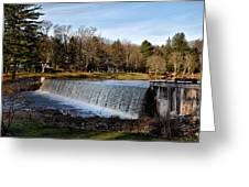 Bear Creek Lake Waterfall Greeting Card