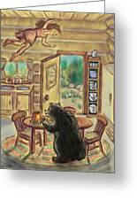 Bear In The Kitchen - Dream Series 7 Greeting Card