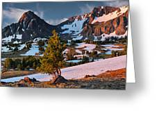 Beartooth Sunrise Light Greeting Card