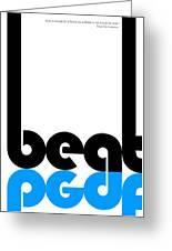 Beat Poster Greeting Card