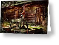 Beaten Down Barn Building Greeting Card
