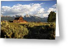 Beautiful Barn Grand Teton  Greeting Card