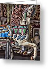 Beautiful Carousel Horse Greeting Card