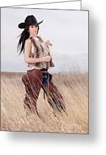 Beautiful Cowgirl Greeting Card