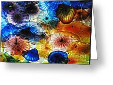 Beautiful Glass Flowers Greeting Card