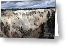 Beautiful Lighting On The Grand Canyon In Yellowstone Greeting Card